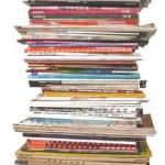 Stack of unread magazines