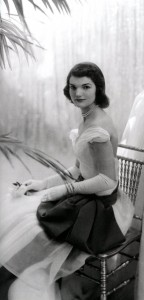 Jacqueline Bouvier (Kennedy) as a debutante in 1947